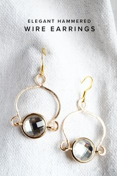 MINTED STRAWBERRY: Learn how to create easy hammered wire earrings! #DIYjewelry…