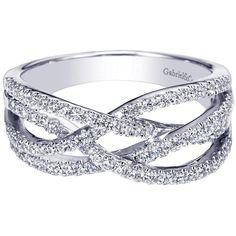 Gabriel NY | Organic diamond criss-cross wave ring