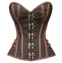 Women and men that are in the market for a strikingly beautiful corset to add to their collection can take advantage of the Catrina Steampunk Corset. Plus Size Steampunk, Style Steampunk, Steampunk Fashion, Victorian Fashion, Bustier Top, Corset Bustier, Overbust Corset, Boned Corsets, Sexy Corset