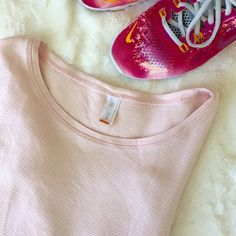 Lucy Top Light pink Lucy long sleeve waffle top.   Please make all offers through the offer button  ✨10%✨off with bundle!  Fast Shipping Non-Smoking No trades/PayPal Open to fair offers Instagram: laurentopor Tumblr: nearlynewbylo  ✨ Happy Poshing ✨ Lucy Tops