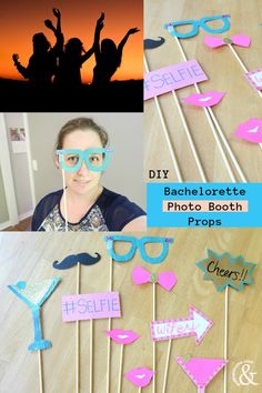 Not sure what to bring to the Bachelorette? Try these easy DIY Bachelorette Selfie Photo Booth Props, they are an awesome addition to any bachelorette! No matter what the brides style or where the party goes these photo booth props will fit right in. Bachelorette Photo Booth, Bachelorette Games, Party Props, Photo Booth Props, Making Memories, Girls Night, Laughing, Brides, Easy Diy