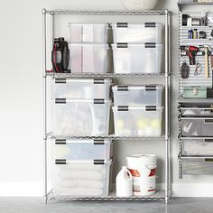 InterMetro Silver 4-Shelf Starter Unit | The Container Store