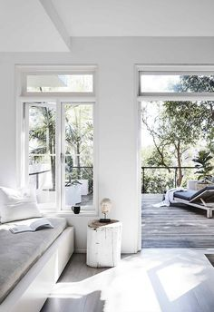 A simple duplex renovation created a light-filled home - Living area: Relaxing in the living area of Louisa and Ryan's home and gazing out at the view, yo - Style At Home, My Living Room, Living Area, Ryan Homes, Interior Styling, Interior Design, Inspire Me Home Decor, Home Fashion, Home Renovation