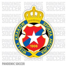 Wisla Krakow Poland Vinyl Sticker Decal Soccer Logo, Krakow Poland, Adhesive Vinyl, Panda, Decals, Stickers, Ebay, Color Print, Polish