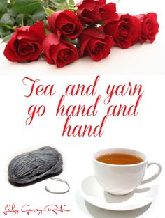 For the tea and yarn lovers :) ❤️❤️❤️... Thanks for pinning my pins.. |more crochet pictorials coming soon .. |#original_quotes #tea #yarn #quotes