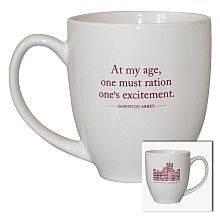 Fans around the world have fallen in love with the quick wit and pithy quotes of Lady Violet, Dowager Countess of Grantham. Show your Downton Abbey spirit with this mug featuring a witty quote from Violet