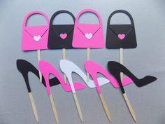 24 Toppers Barbie Cupcake Toppers Cupcake rosa por PapermadeParties