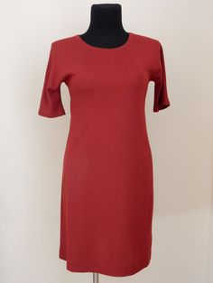 NEW! MAX MARA WEEKEND DRESS WOMEN'S RED SZ.L AUTHENTIC #MaxMara #Casual