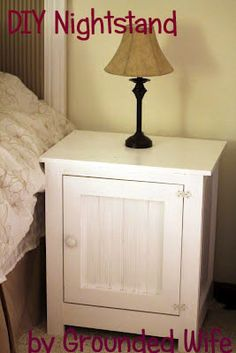 DIY Nightstand- I like how this night stand looks. I like how it has a door.