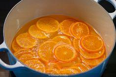 Confitando mandarinas