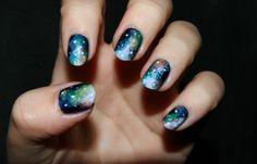 Nagelart: galaxy nagels