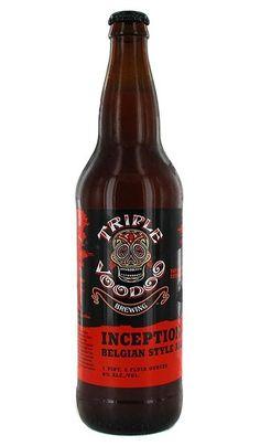 Cerveja Triple Voodoo Inception, estilo Belgian Tripel, produzida por Triple Voodoo, Estados Unidos. 8% ABV de álcool.