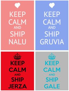 I ship them all! ship nalu, gruvia, jerza, gale <<< YES! All 4 of my main Fairy Tail ships! Fairy Tail Love, Image Fairy Tail, Fairy Tail Amour, Fairy Tail Funny, Fairy Tail Ships, Fairy Tail Anime, Nalu, Fairytail, Gruvia