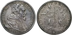 NumisBids: Numismatica Varesi s.a.s. Auction 65, Lot 773 : CLEMENTE X (1670-1676) Piastra 1671 A. II, Roma. CNI 10 Munt....