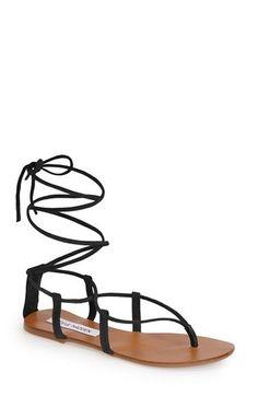9642db176  Gladiator Sandals  Black Stunning Gladiator Sandals Suede Flats