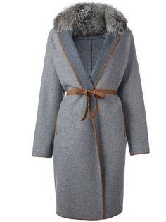 Loro Piana пальто с поясом