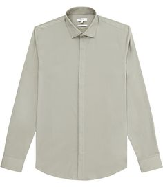 REISS - MAURO CONCEALED PLACKET SHIRT