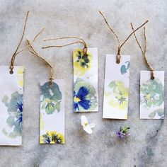 Our stylist whipped up these hammered pansy hapazome gift tags, aren't they sweet? Image via Instagram shopTerrain.