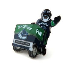 Vancouver Canucks Mascot on Zamboni Lapel Pin