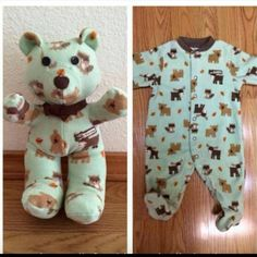 Keep that precious memory of your baby's going home outfit with a teddy made out of the onesie! LOVE this!
