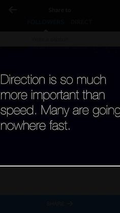 direction over speed, loves