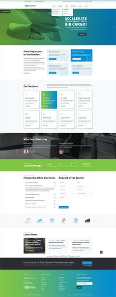 Expeditor is clean and modern design #PSD template for #freight, warehouse, #logistics and transportation company website with 36 layred download now..