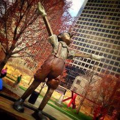Boy wonder in Citygarden - 20 St. Louis Instagram Photos We Love | Midwest Living