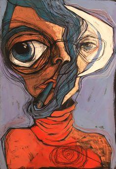 the man with red shirt raluca turliu cobilanschi Desenho Pop Art, Posca Art, Arte Sketchbook, Funky Art, Wow Art, Hippie Art, Weird Art, Psychedelic Art, Surreal Art