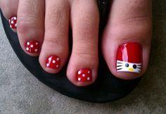 Hello Kitty Toe Nail Design - 30  Toe Nail Designs  <3 !