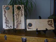 Maple Snack / Serving Board by FrillsElectricWood on Etsy Lichtenberg Figures, Butcher Block Conditioner, Serving Board, Wood Burning, Art Decor, Home Decor, Safe Food, Fractals, Woodworking