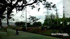 Desforestan amplia zona de Medellin para construir parque.