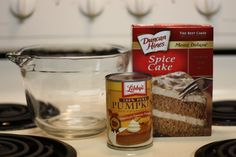 Facebook Pinterest Print Number of Servings: 18 Ingredients 1 box spice cake mix 1 (15-ounce) can pure pumpkin puree Tips: Mix in 1/2 cup raisins or chopped nuts if desired. Directions Simply mix the pumpkin and the spice cake mix powder together and drop by heaping tablespoons into …