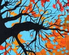 Abstract Tree  by ~angie4450  4th or 5th: OKeeffe, abstraction, point of view, complementary colors