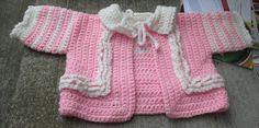 Pink ruffled sweater for 06 month old by BorninBuffalo on Etsy, $25.00