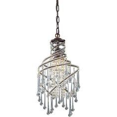 ELK Lighting 12002-1 Elise Crystal Pendant  -  $230.-