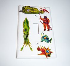 Deep Sea Exploration Single Lightswitch by MoanasUniqueDesigns