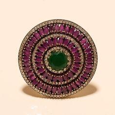 Natural Zambian Emerald Ruby RIng 925 Sterling Silver Huge Statement Jewelry New Swarovski Jewelry, Sterling Silver Jewelry, Silver Ring, Jewelry Gifts, Fine Jewelry, Glass Jewelry, White Gold Jewelry, Gold Jewellery, Indian Jewellery Online