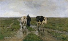 Anton Mauve — Changing Pasture, Painting: Oil on canvas. [[MORE]]Anthonij (Anton) Rudolf Mauve September 1838 – 5 February was a Dutch realist painter who was a leading member of the. Landscape Paintings, Poster Prints, Dutch Painters, Metropolitan Museum Of Art, Image, Art, Heritage Image, Cow Painting, Anton