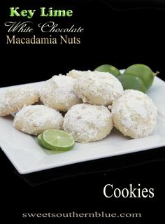 Key Lime, White Chocolate, Macadamia Nut Cookies