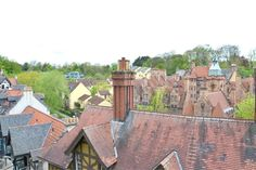 Across the roofs of the Dean Village
