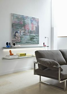 Love the glas and sofa. Beautiful light and design. Wish List!  www.ghyczy.nl