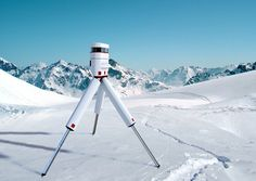 Nevero is a portable laser based 3D measurement system for surveying glaciers and is designed to withstand most extreme conditions. The device itself is divided into two parts. One is the laser scanner and the other is a bag which the scanner is transported in. Designer: Carlos Schreib