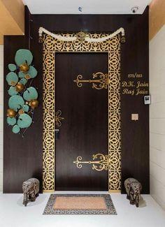 Exterior Home Ideas Entry Doors 48 New Ideas Pooja Room Door Design, Main Door Design, Entrance Design, Entrance Decor, Entrance Ideas, Front Door Entrance, Entry Doors, House Entrance, Sliding Doors