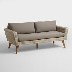 All Weather Wicker Marina Del Ray Occasional Bench - v1