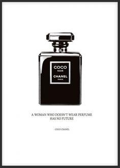 Chanel poster, parfymeflaske