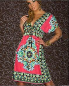 arrival Summer Fashion Retro plug size SunDresses Vintage Paisley Print Hippie Bohemian Knee-Length Beach Dress