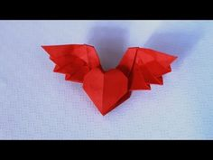 Origami Winged Heart 3.0 (wings up) tutorial - DIY (Henry Phạm) - YouTube