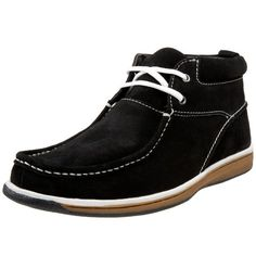 Stacy Adams Men's Wembley Moc-Toe Boot,Black Suede,11.5 M US  #StacyAdams #Shoes