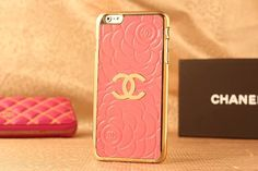 Sales Chanel iPhone 6 / 6 Plus Case - Everyday fashion - Moda - Light Pink - LeatheriPhone6Cases.com