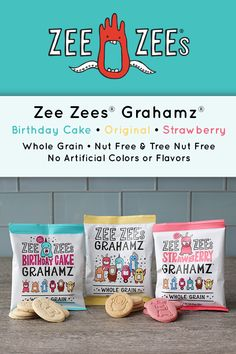 Zee Zees Grahamz Strawberry Variety Pack- Original Birthday Cake 24 1 oz